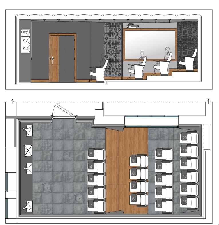 Reina Mora Cinema Hall Plan